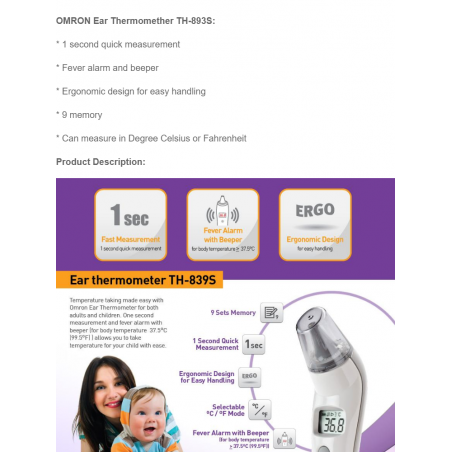 OMRON Ear Thermometer...
